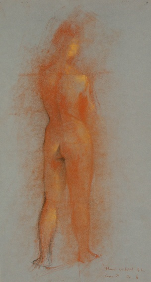 Nude, 1987 - Charcoal & pastel on paper - 35 x 60 cm