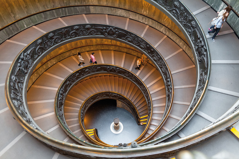 Bramante Staircase, exit stairs from Vatican City
