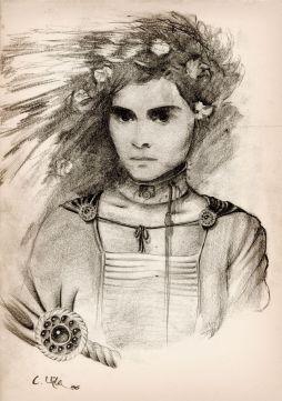 sketch_chica_flores